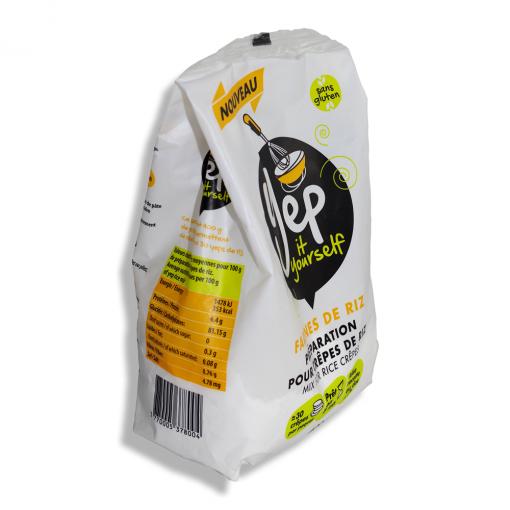 paquet de farine de riz yep trois quart