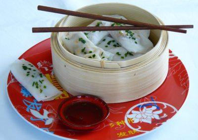 Banh Cuon au porc et champignons noirs